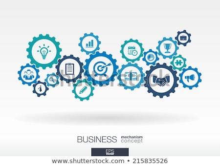 business strategy on the cogwheels stock photo © tashatuvango