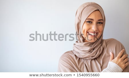 Iraans vrouw mooie slank zwarte jurk geschilderd Stockfoto © disorderly