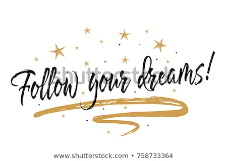 dream wording isolate on white background Stock photo © vinnstock