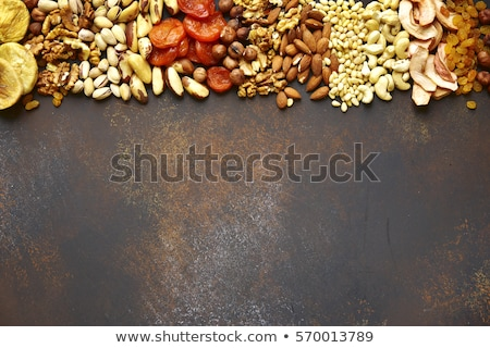 Background with nuts and apples Stock photo © BarbaraNeveu