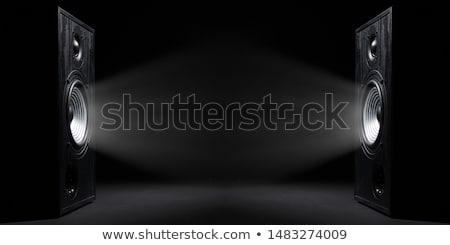 Konuşmacı dalgalar soyut sarı arka plan Stok fotoğraf © elaine