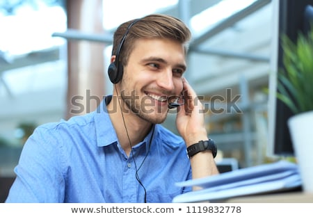 helpdesk · hotline · opérateur · centre · d'appel · Ouvrir · la - photo stock © fuzzbones0