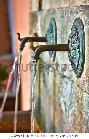 給水栓 フランス ドリンク 家 夏 ブドウ ストックフォト © ivonnewierink