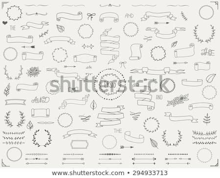hand drawn collection of decorative wedding design elements stock photo © netkov1