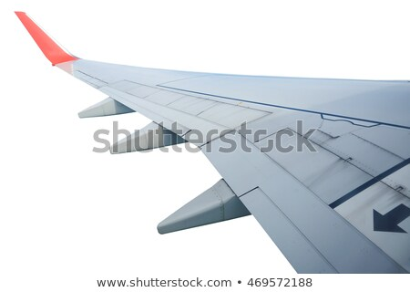Part of airplane wing on sky background Stock photo © Agatalina