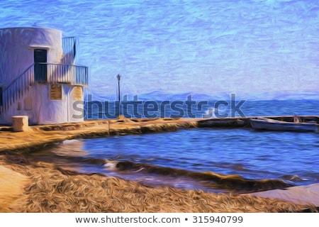 мнение традиционный рыбалки деревне острове Греция Сток-фото © ankarb
