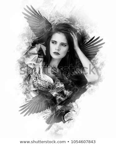 model wearing leather corset Stock photo © ozaiachin