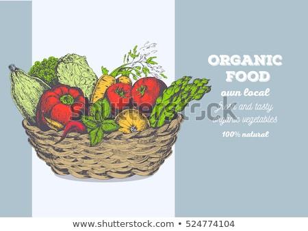 Vector of farmer with fresh vegetables. Stock photo © Morphart