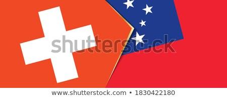 Svizzera Samoa bandiere puzzle isolato bianco Foto d'archivio © Istanbul2009