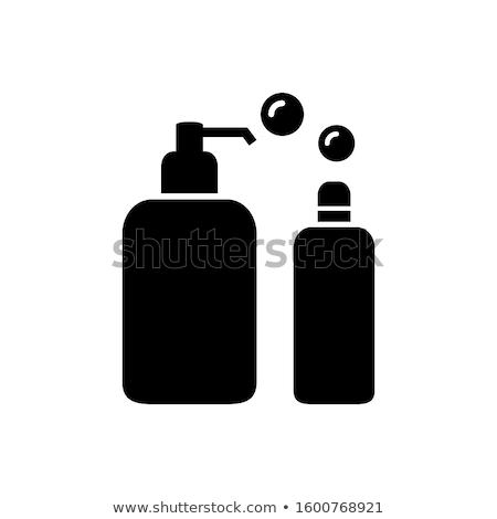 Shampoo bottiglia design bellezza spa Foto d'archivio © ozaiachin