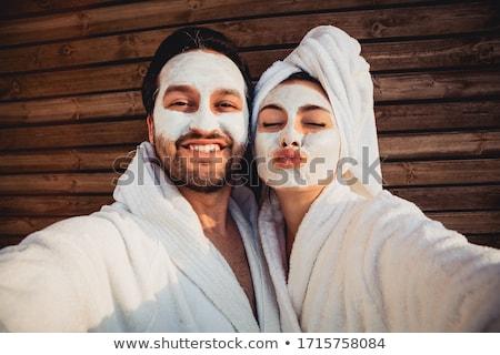 inverno · faces · casal · sorrir · cara · amor - foto stock © Paha_L