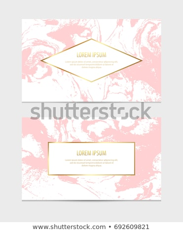 Creative gift certificate with black background and pink and turquoise corner Stock photo © liliwhite