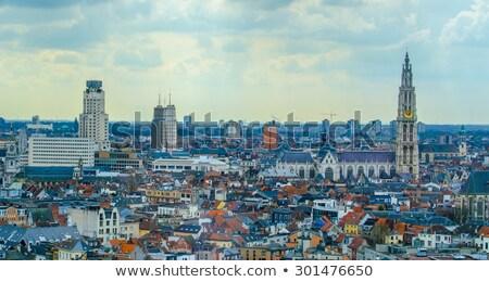 Vista ciudad Bélgica horizonte calle urbanas Foto stock © dinozzaver