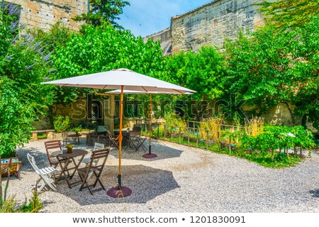 Medieval jardines castillo casa casa Foto stock © Hofmeester