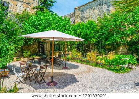 Medieval jardins castelo casa casa Foto stock © Hofmeester
