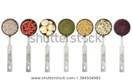 種子 · スプーン · シード · 金属 · 孤立した - ストックフォト © pixelsaway