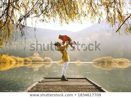 Riverside autumn landscape Stock photo © Steffus