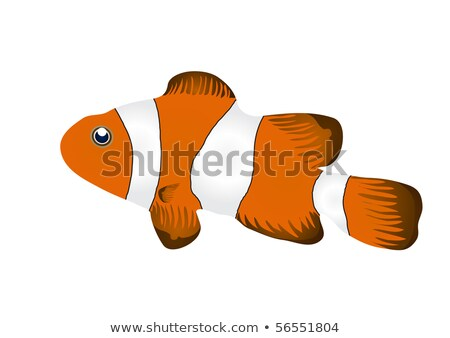 Underwater card red tropical fish, vector illustration Stock photo © carodi