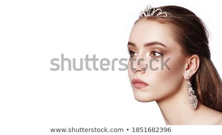 Romantyczny Fotografia brunetka piękna sexy moda Zdjęcia stock © konradbak