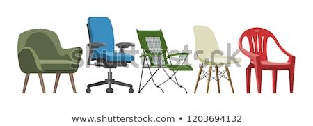 Sandalye klasik ahşap sandalye beyaz ahşap renk Stok fotoğraf © sveter