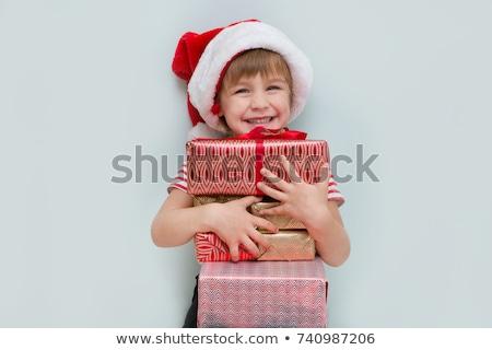 мало мальчика подарок изолированный белый Сток-фото © DedMorozz