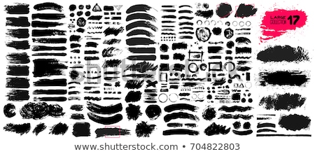 чернила · Места · набор · четыре · черный · вектора - Сток-фото © thomasamby