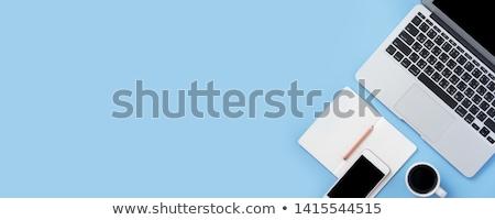 vecteur · notepad · modèle · horizontal · détaillée · peuvent - photo stock © bluering