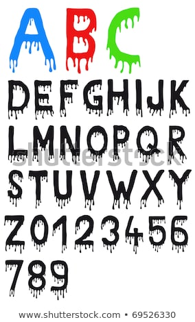 Letters of the alphabet in bloody template Stock photo © bluering
