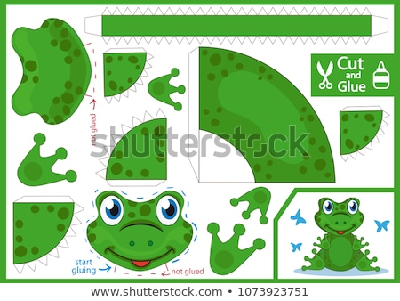 лягушка марионеточного ребенка фон поцелуй зеленый Сток-фото © bernashafo