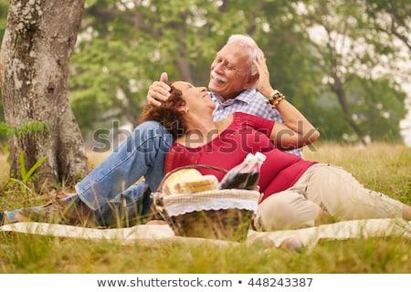 Сток-фото: старший · человека · женщину · пикника · старые · люди