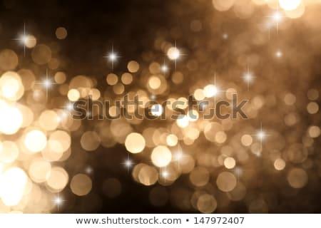 Blurred yellow lights circular bokeh abstract for Christmas bac Stock photo © stoonn