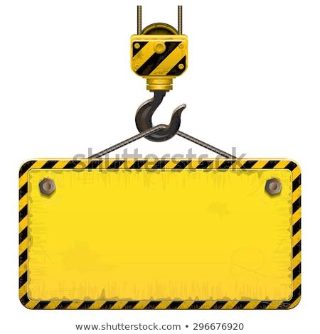 Vektor Bau Zeichen Kran Set hängen Stock foto © adrian_n