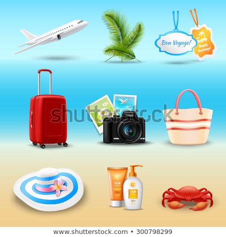 краба солнце лосьон иллюстрация морем бутылку Сток-фото © adrenalina