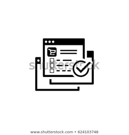 order processing icon flat design stock photo © wad