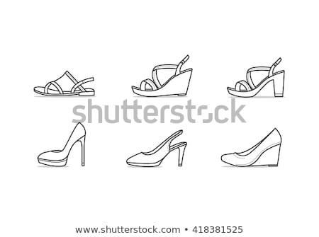 senhora · moda · praia · ilustração · relaxante · mulher · praia - foto stock © rastudio