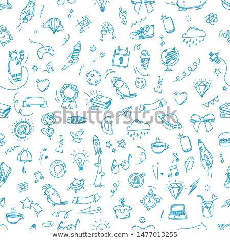 school doodle seamless patter stock photo © pakete