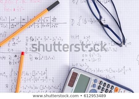 домашнее задание Math бумаги фон науки черный Сток-фото © zurijeta