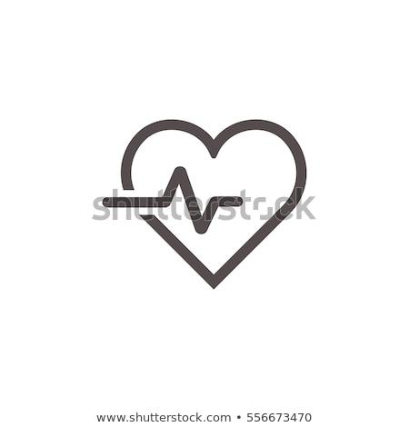 中心 パルス モニター 黒白 薬 画面 ストックフォト © Grafistart