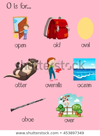 Flashcard letter O is for over Stock photo © bluering