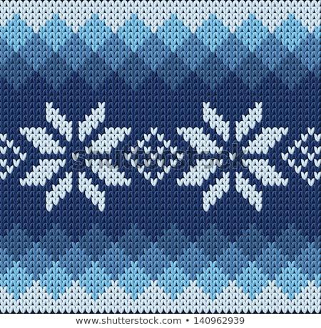 編まれた 冬 雪 ファブリック レトロな ヴィンテージ ストックフォト © carodi