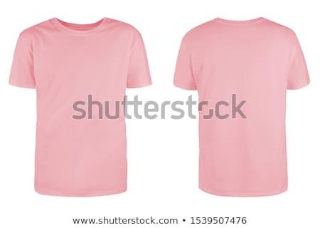 розовый · довольно · румынский · брюнетка · рубашку · джинсовой - Сток-фото © disorderly