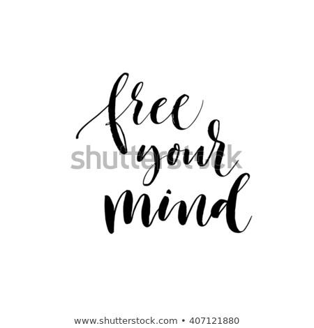 Free Your Mind Design Template Stock photo © sgursozlu