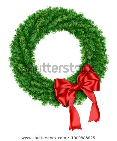classic wreath with red ribbon stock photo © lightsource