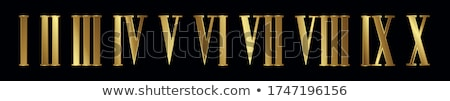 roman numerals with gears stock photo © blackmoon979
