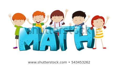 шрифт дизайна слово Math мальчики девочек Сток-фото © bluering