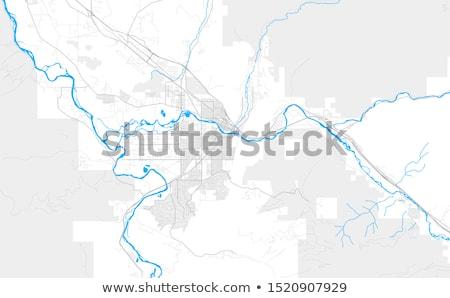 missoula city pin on the map stock photo © alex_grichenko