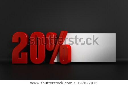 красный · двадцать · процент · знак · серый · бизнеса - Сток-фото © tussik