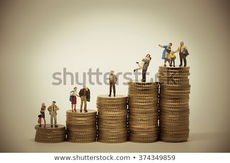 People of various social groups on pile of coins Stock photo © Kirill_M