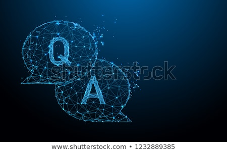 chat bubble in abstract particles style Stock photo © SArts