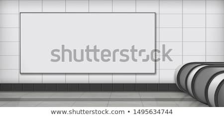 Reklamy billboard metra stacja wektora szablon Zdjęcia stock © tuulijumala